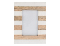 LivingStyles Moxon Marble & Timber Photo Frame, 4x6 Inch