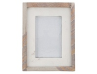 LivingStyles Rue Marble & Stone Photo Frame, 4x6 Inch