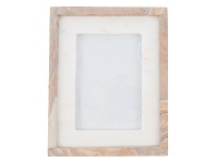 LivingStyles Rue Marble & Stone Photo Frame, 5x7 Inch