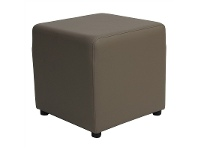 LivingStyles Berlin V2 Commercial Grade Square Ottoman - Taupe