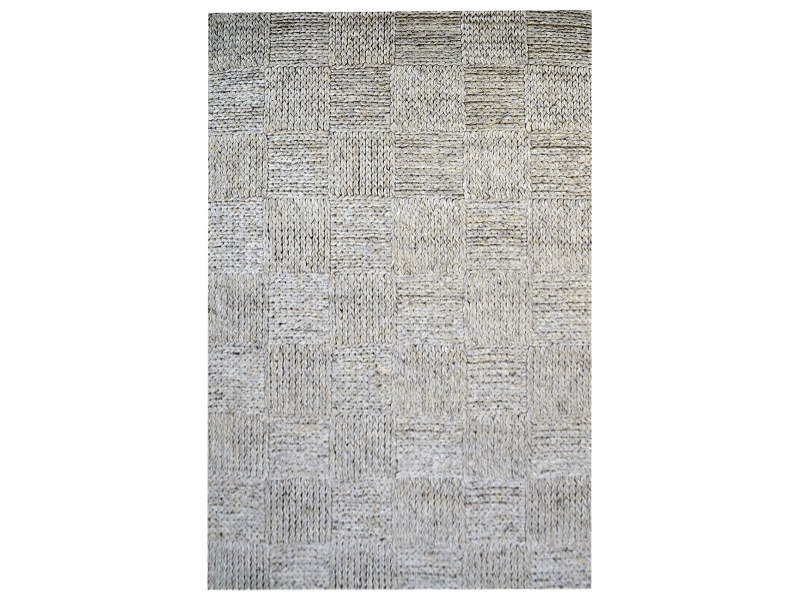Ottawa Braided Modern Wool Rug, 230x160cm, Ash Grey