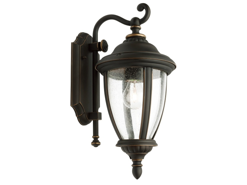 Oxford IP43 Exterior Wall Lantern, Bronze