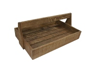 LivingStyles Guston Solid Mango Wood Timber Bakers Tray - Rustic Natural