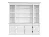 LivingStyles Dundee Solid Birch Timber Bookcase, Matt White