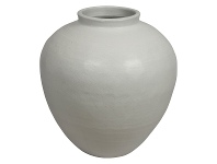 LivingStyles Milos Glazed Ceramic Pot, Medium