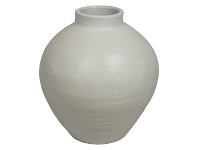 LivingStyles Milos Glazed Ceramic Pot, Small