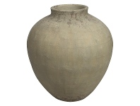 LivingStyles Milos Raw Ceramic Pot, Medium