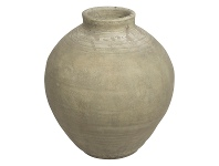 LivingStyles Milos Raw Ceramic Pot, Small