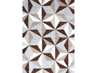LivingStyles Pablo Alcatraz Turkish Made Rug, 160x220cm, Brown