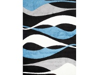 LivingStyles Pablo Izzie Turkish Made Rug, 160x220cm, Blue