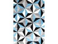 LivingStyles Pablo Alcatraz Turkish Made Rug, 200x290cm, Blue