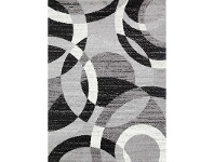 LivingStyles Pablo Circle Turkish Made Rug, 200x290cm, Grey