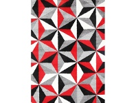 LivingStyles Pablo Alcatraz Turkish Made Rug, 80x150cm, Red