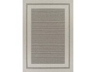 LivingStyles Pavilion Silas 150x220cm Egyptian Made Indoor/Outdoor Rug - Cream/Grey