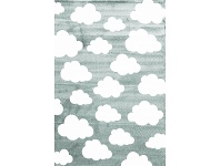 LivingStyles Piccolo Clouds Turkish Made Kids Rug, 120x170cm, Teal