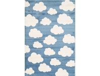 LivingStyles Piccolo Clouds Turkish Made Kids Rug, 120x170cm, Blue