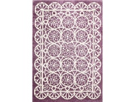 LivingStyles Piccolo Lace Turkish Made Kids Rug, 120x170cm, Plum
