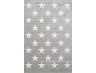 LivingStyles Piccolo Stars Turkish Made Kids Rug, 120x170cm, Grey