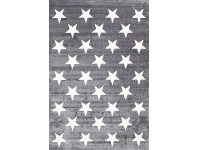 LivingStyles Piccolo Stars Turkish Made Kids Rug, 120x170cm, Charcoal