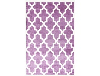 LivingStyles Piccolo Moroccan Turkish Made Kids Rug, 120x170cm, Plum