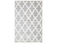 LivingStyles Piccolo Moroccan Turkish Made Kids Rug, 120x170cm, Grey