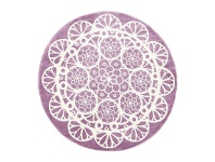 LivingStyles Piccolo Lace Turkish Made Round Kids Rug, 133cm, Plum