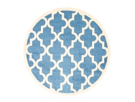 LivingStyles Piccolo Moroccan Turkish Made Round Kids Rug, 133cm, Blue