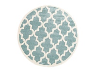 LivingStyles Piccolo Moroccan Turkish Made Round Kids Rug, 133cm, Teal