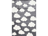 LivingStyles Piccolo Clouds Turkish Made Kids Rug, 160x230cm, Charcoal