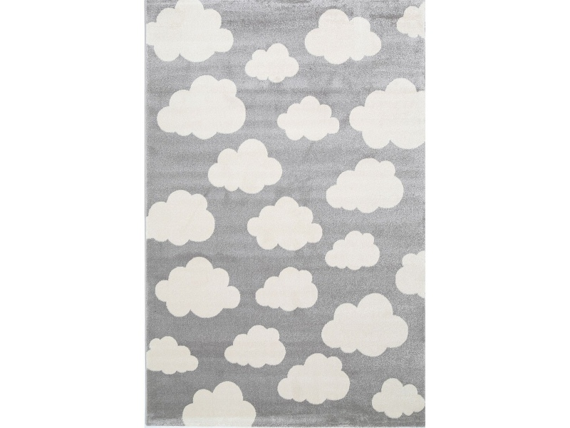 Piccolo Clouds Turkish Made Kids Rug, 160x230cm, Grey