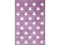 LivingStyles Piccolo Stars Turkish Made Kids Rug, 160x230cm, Plum