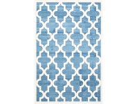 LivingStyles Piccolo Moroccan Turkish Made Kids Rug, 160x230cm, Blue