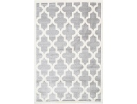 LivingStyles Piccolo Moroccan Turkish Made Kids Rug, 160x230cm, Grey