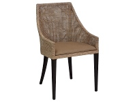 LivingStyles Tennessee Rattan Dining Armchair, Grey Wash