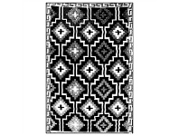LivingStyles Lhasa 180x270cm Reversible Outdoor Rug - Black/Cream