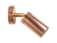 LivingStyles Roslin Economy IP54 Exterior Single Adjustable Wall Light, MR16, Copper with Brass Knuckle