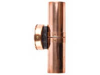 LivingStyles Roslin Economy IP54 Exterior Up / Down Wall Light, MR16, Copper