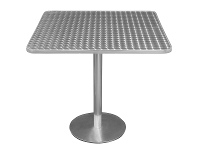 LivingStyles Caltana Commercial Grade Square Dining Table, 70cm, Silver