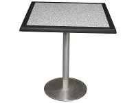 LivingStyles Caltana Commercial Grade Square Dining Table, 70cm, Pebble