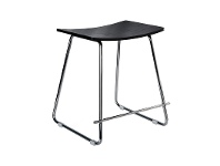 LivingStyles Porter Commercial Grade Steel Table Stool, Black / Chrome