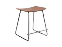 LivingStyles Porter Commercial Grade Steel Table Stool, Natural / Chrome