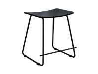 LivingStyles Porter Commercial Grade Steel Table Stool, Black
