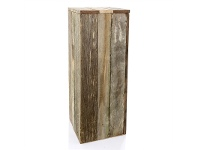 LivingStyles Tupelo Recycled Timber Plinth - Medium