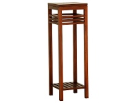 LivingStyles Holland Solid Mahogany Timber Plant Stand, Light Pecan