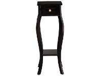 LivingStyles Queen Ann Solid Mahogany Timber Plant Stand - Chocolate