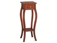 LivingStyles Queen Ann Solid Mahogany Timber Plant Stand, Mahogany