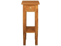 LivingStyles Malacca Mahogany Timber Plant Stand, Light Pecan