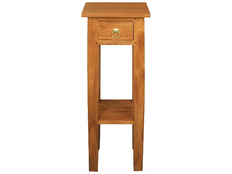Malacca Mahogany Timber Plant Stand, Light Pecan