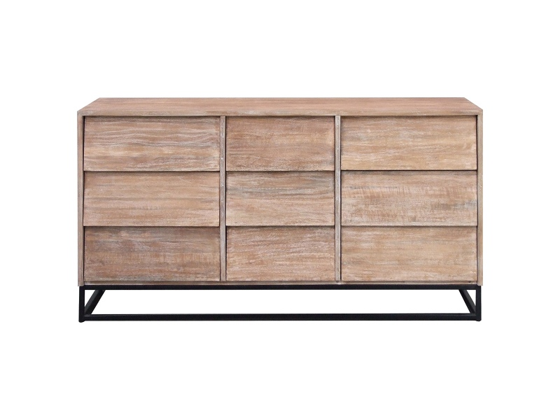 Pontons Mango Wood 9 Drawer Chest