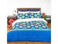 LivingStyles Soda Queen Size Reversible Quilt Cover Set